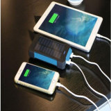 La Banca portatile doppia di energia solare dell'uscita 10000mAh del USB con affissione a cristalli liquidi