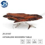 2016 de Roestvrije Houten Moderne Levende Koffietafel van de Rand (jk-A1047)