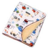 Soft Short Plush Sherpa Fleece Custom Baby Blankets for Wrap