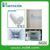 Filtro de ar do teto do filtro de telhado 600g dos media da difusão dos media de filtro da cabine de pulverizador dos media de F5 Fitration