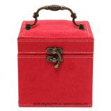 Caixa de presente de jóias de couro de camurça 3 Camadas de exibição de joalheria