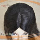 100% pieza llena del pelo del pelo humano del cordón del cordón de