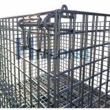 Qualité pliant les coffres empilables lourds de treillis métallique