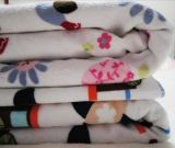 美の刺繍の花の赤ん坊毛布