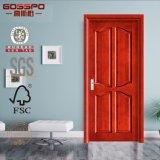 Diseño de madera compuesto de la puerta de la chapa de caoba en MDF (GSP6-012)