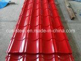 Zinco de alumínio telha de telhado Prepainted da chapa de aço/metal do Trapezoid