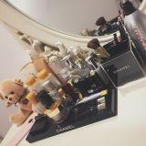 Organizador excelente del maquillaje del negro de la calidad, rectángulo de almacenaje de acrílico cosmético