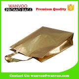 Многоразовая изготовленный на заказ хозяйственная сумка одежды пленки золота Non сплетенная
