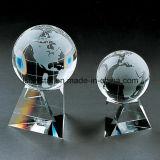 Concesión del trofeo del fútbol del balompié del vidrio cristalino de la calidad