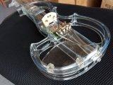 Violino elétrico acrílico dos instrumentos musicais