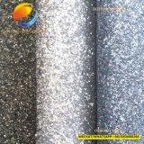 Couro sintético do plutônio do Glitter novo do teste padrão da sapata 5552c
