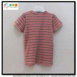 Streifen-Drucken-Baby-Abnützung V-Stutzen Baby-T-Shirt
