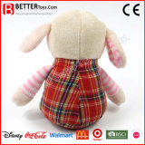 Brinquedo animal enchido bonito do cordeiro do bebê do luxuoso