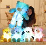 Orso d'ardore farcito dell'orsacchiotto del giocattolo LED della peluche dell'animale