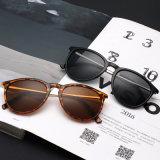 Óculos de sol plásticos da forma com o templo do metal para o preço de grosso 400 UV & o Ce