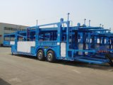 6 Car Two Axle Double Tyre Car Carrier Semi - Trailer