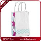 Bolsa de papel floral fucsia de los compradores, bolso del regalo, bolso de compras, bolso de papel del regalo