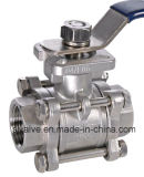 3PC Ss ball valve with ISO 5211