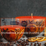 SaleのためのレモンSlice Art Candle