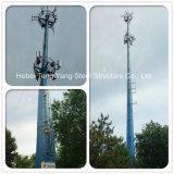 Tours professionnelles de pipe en acier de télécommunications pour la radiodiffusion de signal de téléphone cellulaire