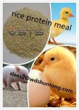 Еда протеина риса для цыплятины