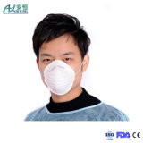 처분할 수 있는 방진 안전 짠것이 아닌 컵 모양 가면 또는 먼지 가면
