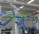 The Welding Fume Extraction System (다중의와 집중된 상태)를 위한 증기 Extraction Arms Used