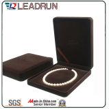 Упаковки хранения подарка ювелирных изделий PU бархата коробка ожерелья браслета кольца кожаный пластичная (Ys31)