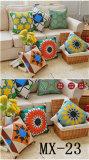 Coxim geométrico do café da cadeira da forma do sofá da cor do descanso abstrato do algodão