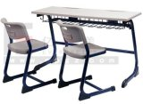 최신 Sale School Furniture School Wooden Double Desk 및 Chair