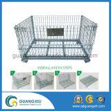 Metalldraht-Ineinander greifen-Speicher-Rahmen-Behälter der hohen Kapazitäts-(1000-3000kgs)