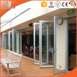 Portello di piegatura di alluminio della rottura termica superiore, portello di piegatura di vetro per la villa di qualità superiore, portello di vetro di vetratura doppia
