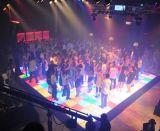 Танцевальная площадка 2017 новая акриловая водоустойчивая белая панелей СИД танцы в выставке DJ партии этапа венчания