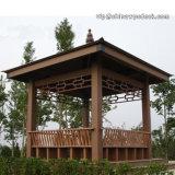 Gazebo de madeira do hexágono WPC para o jardim
