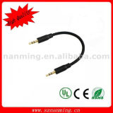 cabo audio estereofónico do plugue 4-Pole auxiliar de 3.5mm