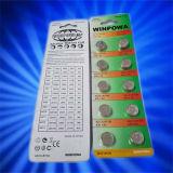 Батарея клетки кнопки Lr1154 серебряной окиси соответствующая