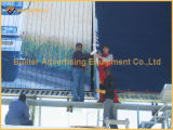 Polo Apoyado estructura horizontal al aire libre de la cartelera Prisma
