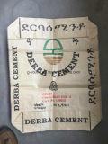 25kg Brown Packpapier-lamellierter pp. gesponnener Beutel für Verpackungs-Zufuhr, Kleber,
