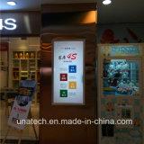 Rectángulo ligero rápido ultra delgado caliente de interior del marco LED de la venta de la publicidad de media del club del almacén de los departamentos de belleza