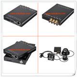 Câmeras de 4 canais Sistemas de segurança automotiva com monitoramento GPS 4G Monitoramento de rede inteligente