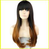 Capelli ricci delle parrucche ambientali dei capelli umani