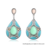 多彩な方法合金の宝石類のボヘミアの低下イヤリング2つのカラー