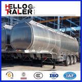 Acoplado cilíndrico del petrolero del combustible de la dimensión de una variable 42cbm con la placa de extremo del acero de carbón de 6m m