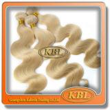 Extensão brasileira dourada do cabelo de Remy