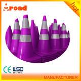 Unterschiedlicher farbiger 2 reflektierender Bänder Belüftung-Verkehrs-Kegel