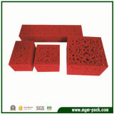 Klassischer roter Ausgehöhlter-heraus Plastikschmucksache-Kasten