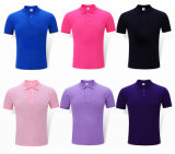 Рубашка пола красного хлопка людей рубашки гольфа связанная быстро сухая