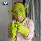 Máscara divertida encantadora de Shrek de la máscara del látex del verde del carnaval
