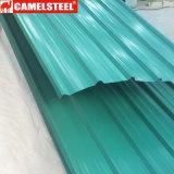 Strato ondulato galvanizzato del tetto ricoperto colore