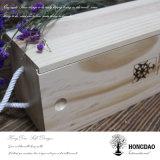 Rectángulo de madera del almacenaje de los bocados de Hongdao que resbala la tapa